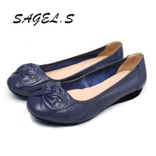 2016 Plus Size 34-43 Fashion Shoes Woman, Genuine Lather Women Shoes, Brand High Quality Women Flats, Women Ballet Shoes, Casual