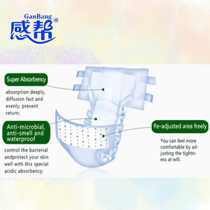 New Adult Diaper For Patient Hospital Use Absorbency Waterproof Incontinence Plastic Pant Adult Nappy Economy Pack Size L 10 Pcs(China (Mainland))