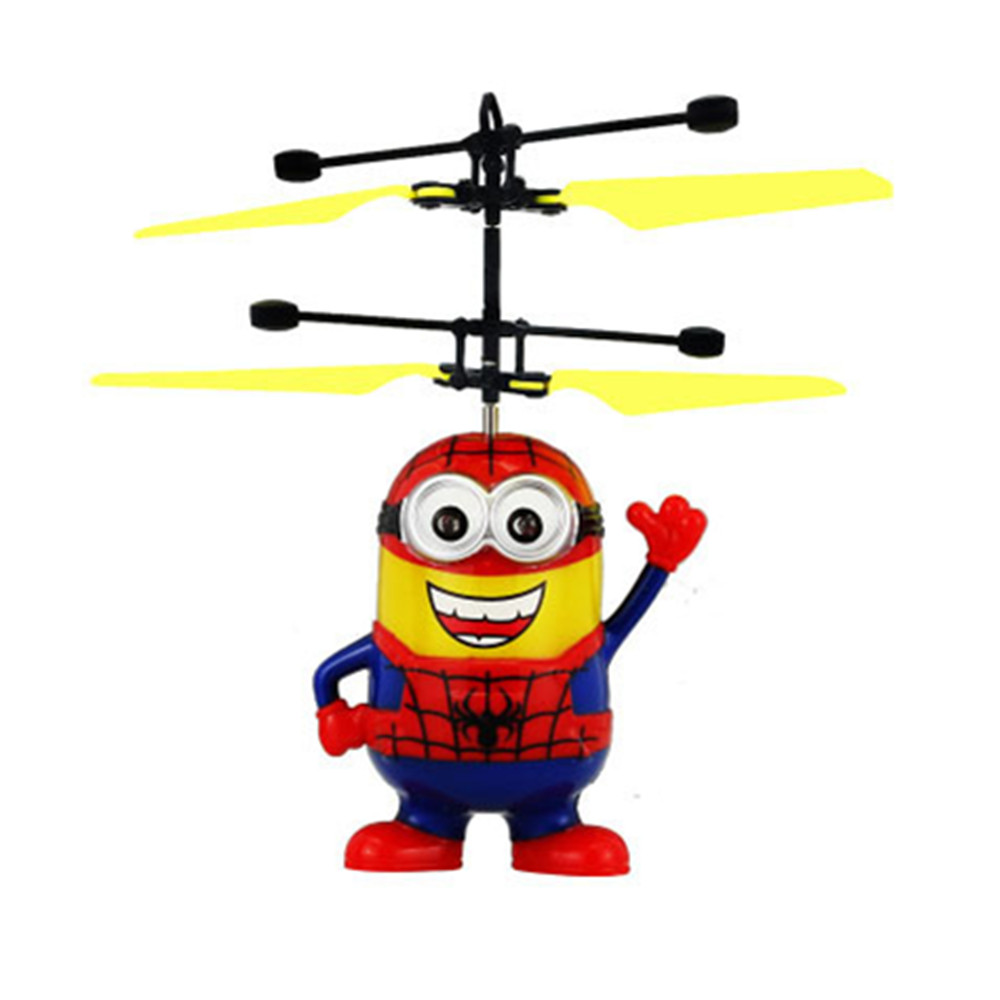 ME Minion Fly Flash Ball Remote Control RC Toys Despicable Me Minion Helicopter Quadcopter Drone Ar.drone