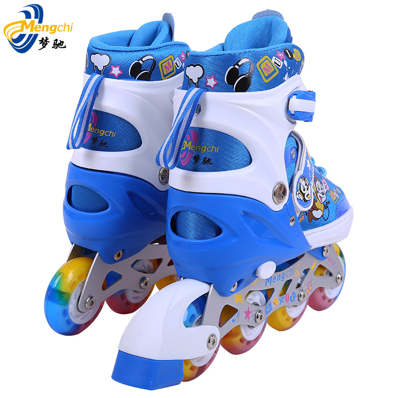 2015 Cone Inline Wheels Children Skating Shoes Fashion Personality Single Line All Flash Roller Skates Suits For Men And Women(China (Mainland))