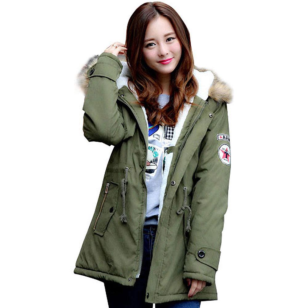 Green Parka Coat Womens
