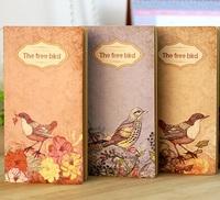 New Retro The Free Bird series Kraft paper notebook/Vintage DIY diary/journal pocket book/ Kraft Blank inner page