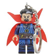 Doctor Strange Super Heroes Minifigures Keychain For Key Custom Ring Key Chain Building Blocks Sets Model Figures Toys