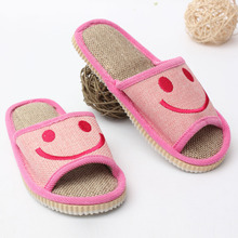 New Arrival 2015 Ms. Cartoon Slippers Shoes Unisex Men Women Spring Home Slippers Lovers Explosion Models Linen(China (Mainland))
