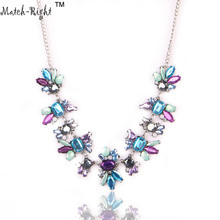 Buy Match-Right Women Necklace Rhinestone Statement Necklaces Pendants Trendy Jewelry Crystal Necklace Women Accessories NL524 for $2.69 in AliExpress store