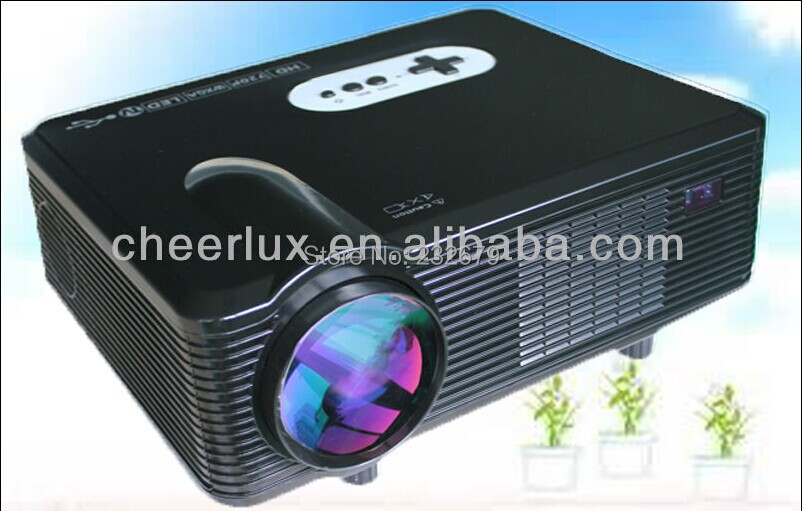 Hot selling!!Led Technology 1280*800 Resolution 16:9 4:3 Switch Freely 2000:1 With hdmi usb vga Analog tv Multimedia Projectors(China (Mainland))