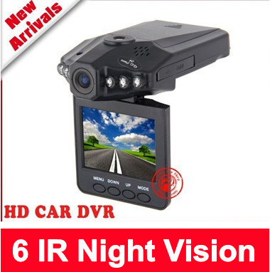 "Free shipping 6 IR LED Night Vision 2.5"" Color LCD Car Auto DVR HD Audio Video Recorder Camera"