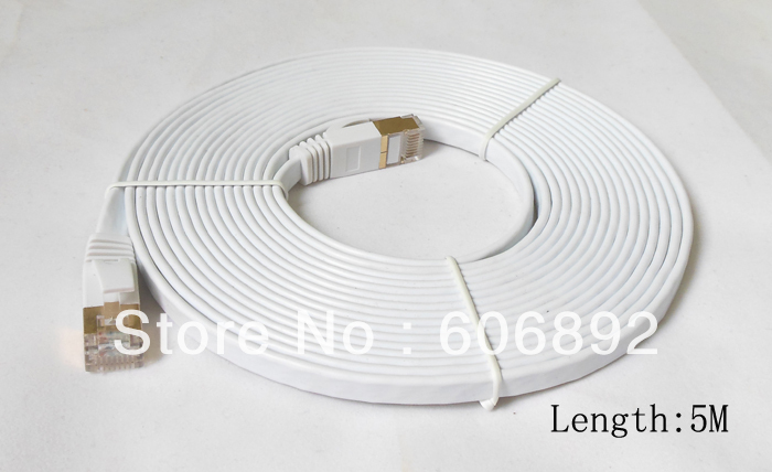 3M 5M 10M 15M 20M Networking Cable Ethernet Cable Cat7 RJ45 M/M Thin High Speed Flat Shielded Twisted Pair Internet Lan(China (Mainland))