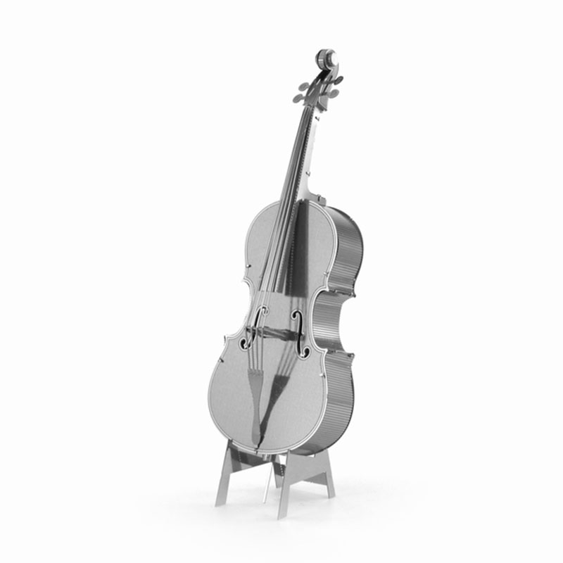 DIY 3D Puzzle Metal Violoncello Guitar Musical Instruments Model Leisure Educational Jigsaws Best Knowledge Gift for Kids(China (Mainland))
