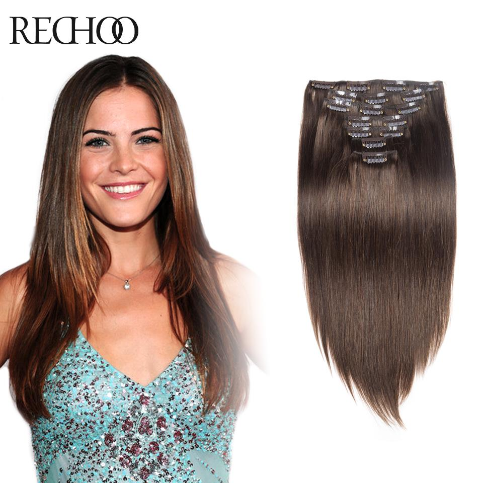 Brown Hair Extensions Real Human Hair Extensions
