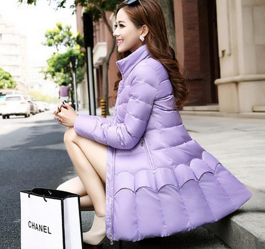 New Korean Style Fashion Women Winter Coat Elegant Standing collar Thick Super Warm Down jacket Long slim Big yards coat G1959Îäåæäà è àêñåññóàðû<br><br>