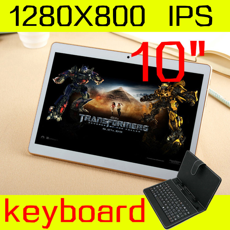 10 inch tablet keyboard IPS octa core ram 4GB ROM 64GB 5.0mp 3 G android5.1 Tablet PC card phone call mtk6592 dual sim GPS 10(China (Mainland))