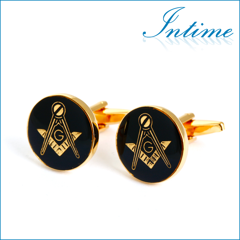 en jeweley stainless steel cufflinks masonic freemasonry peace love gift costume accessories<br><br>Aliexpress