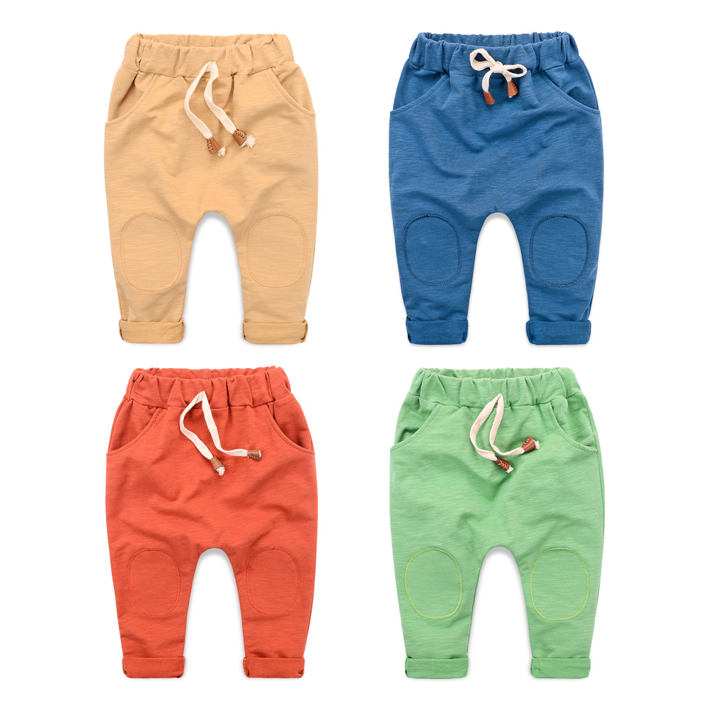2016 autumn girls & boy harem capris pants for age 2-10 new cute candy color terry child clothing solid kids children long pants(China (Mainland))