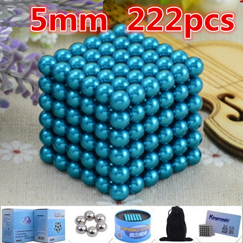 blue 216pcs 5mm Buck yballs Neo cube Magic Cube Puzzle Magnetic Magnet Balls Spacer Beads neodymium spheres beads magic cube(China (Mainland))