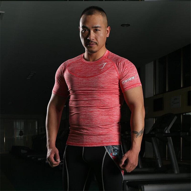 2016 New Arrival Gym Shark Stringer T shirt Men Bodybuilding and Fitness Men's Singlets GYM Tank Shirts Sports Clothes(China (Mainland))