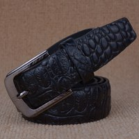 [TG] New Crocodile Skin Men's Belt Male artificial leather pin buckle for men belt casual fashion classic Style Cinto waistband