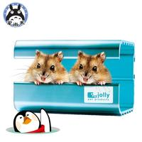 Small pet supplies Super Cool nest Pure Aluminum Metal Mini Hamster Cage house for Farm Animals 1pc