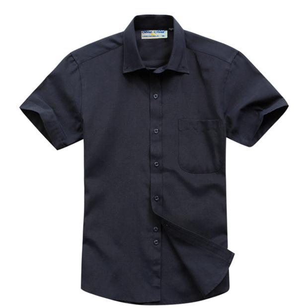Plus size men 39 s short sleeve button down collar cotton for 6xl button down shirts