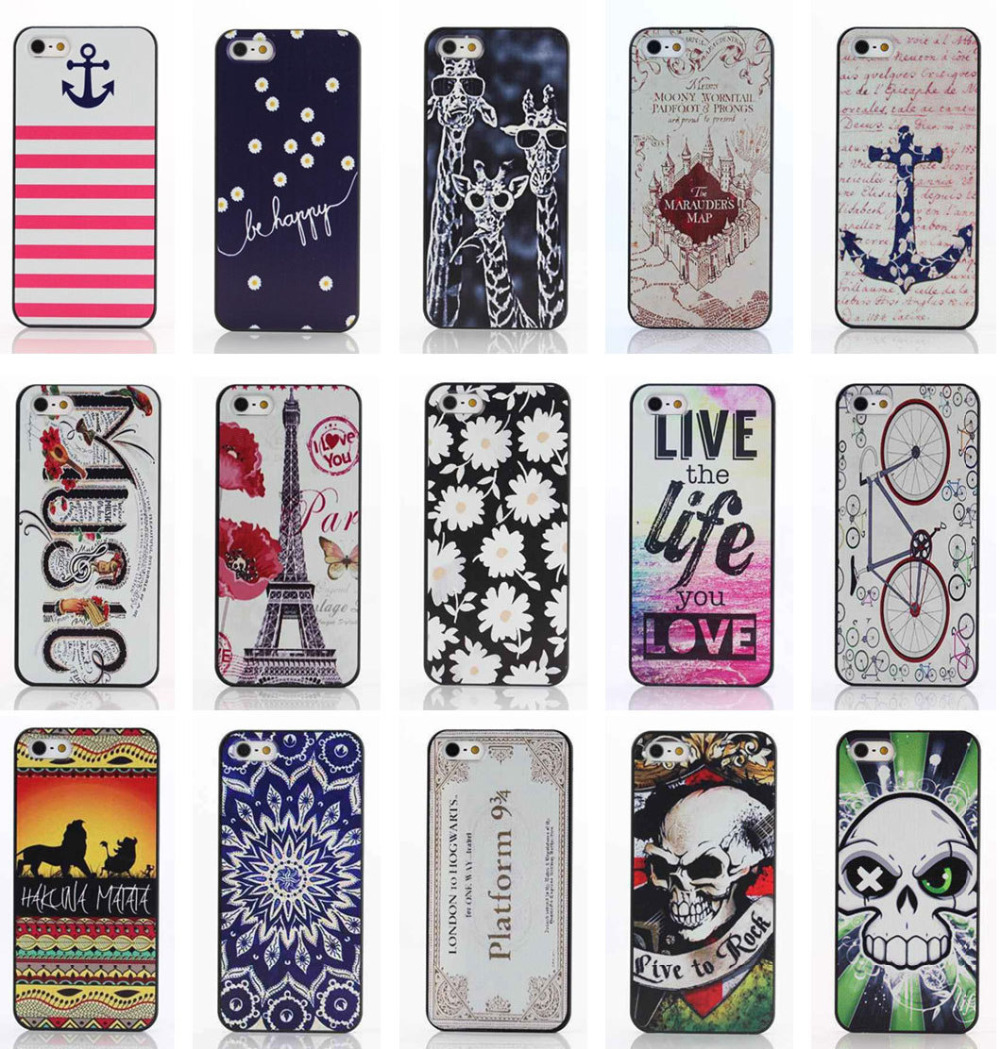 15 Models Luxury 3D painting tower Case for apple iphone 5s cover iphone5 Cases i phone 5 s covers skin Free Shipping(China (Mainland))