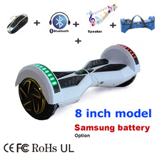 "Intelligent 2 Wheel Self Balancing Scooters 8 inch Smart Electric Scooter Balance Hover Board LED 8"" UL certified Hoverboard()"