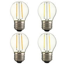 Buy Vintage Edison Light Bulb E27 G45 2W 200LM Retro Incandescent Filament LED COB Dimmable Lamp Warm White Pure White 110V/220V for $2.37 in AliExpress store