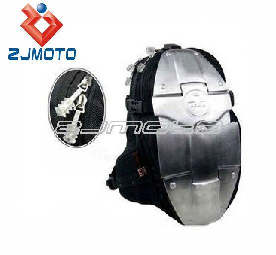 ZJMOTO Motorcycle Waist packbag Motocross bag Racing Backpack fashion ASMK alloy backpacks 4 metal plate aluminum backpack(China (Mainland))