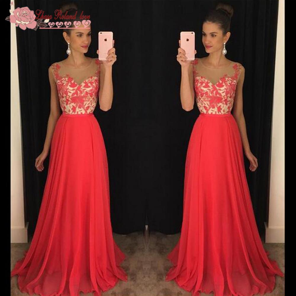 abendkleider red chiffon long evening dresses party gowns. Black Bedroom Furniture Sets. Home Design Ideas