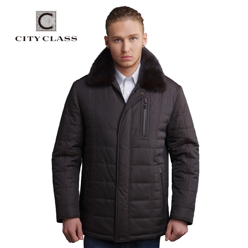 CITY CLASS New men classic casual Thinsulate removable mink collar free shippingОдежда и ак�е��уары<br><br><br>Aliexpress