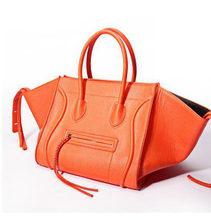 Nova Famosa Marca de Luxo Designer Bolsas de Couro Das Mulheres Moda Sorriso Rosto Tote Qualidade Trapézio Emoticon Bolsa Feminina Garras(China)