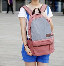 Preppy Style Stripe Women Men Canvas Backpack Schoolbag For Girls Boys Teenager Book Pad Laptop Bag Casual Travel Bag Rucksacks ()
