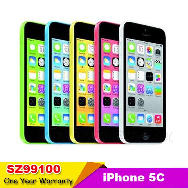 "iphone5c Unlocked Original Apple iphone 5C Mobile phone 4"" Retina 1GB RAM 16GB ROM 8MP Camera 1080P WCDMA IOS used phone(China (Mainland))"