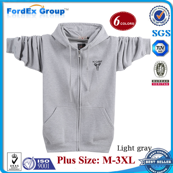 2015 New Male Slim Hoodie Sweatshirts Zipper-up Super Large Plus Size Mens Hoodies Pullover - Fordex Industrial Group Limited store