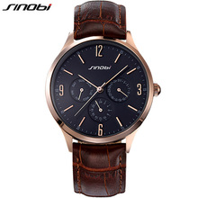 Buy SINOBI Slim Quartz-watch Leather Wristband Mens Watches Top Brand Luxury Casual Sports Japan Movt Quartz Watch Men Wristwatches for $13.99 in AliExpress store