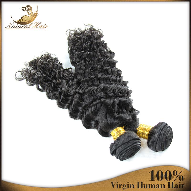 2015 New Queen Hair Brazilian Deep Wave 2pcs/lot Brazilian Virgin Hair Wavy Natural Black Brazilian Hair Weave Bundles Free Ship<br><br>Aliexpress