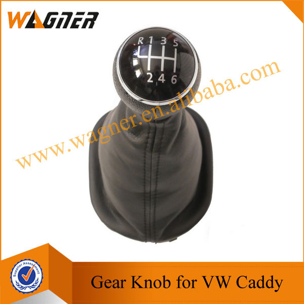 WAGNER Free Shipping Black Leather  Boot 6 Gear Car Gear Knob for VW Caddy<br><br>Aliexpress