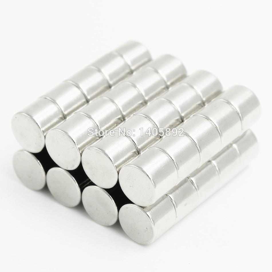 50pcs Super Powerful Strong Bulk Small Round NdFeB Neodymium Disc Magnets Dia 10mm x 8mm N35  Rare Earth NdFeB Magnet<br><br>Aliexpress