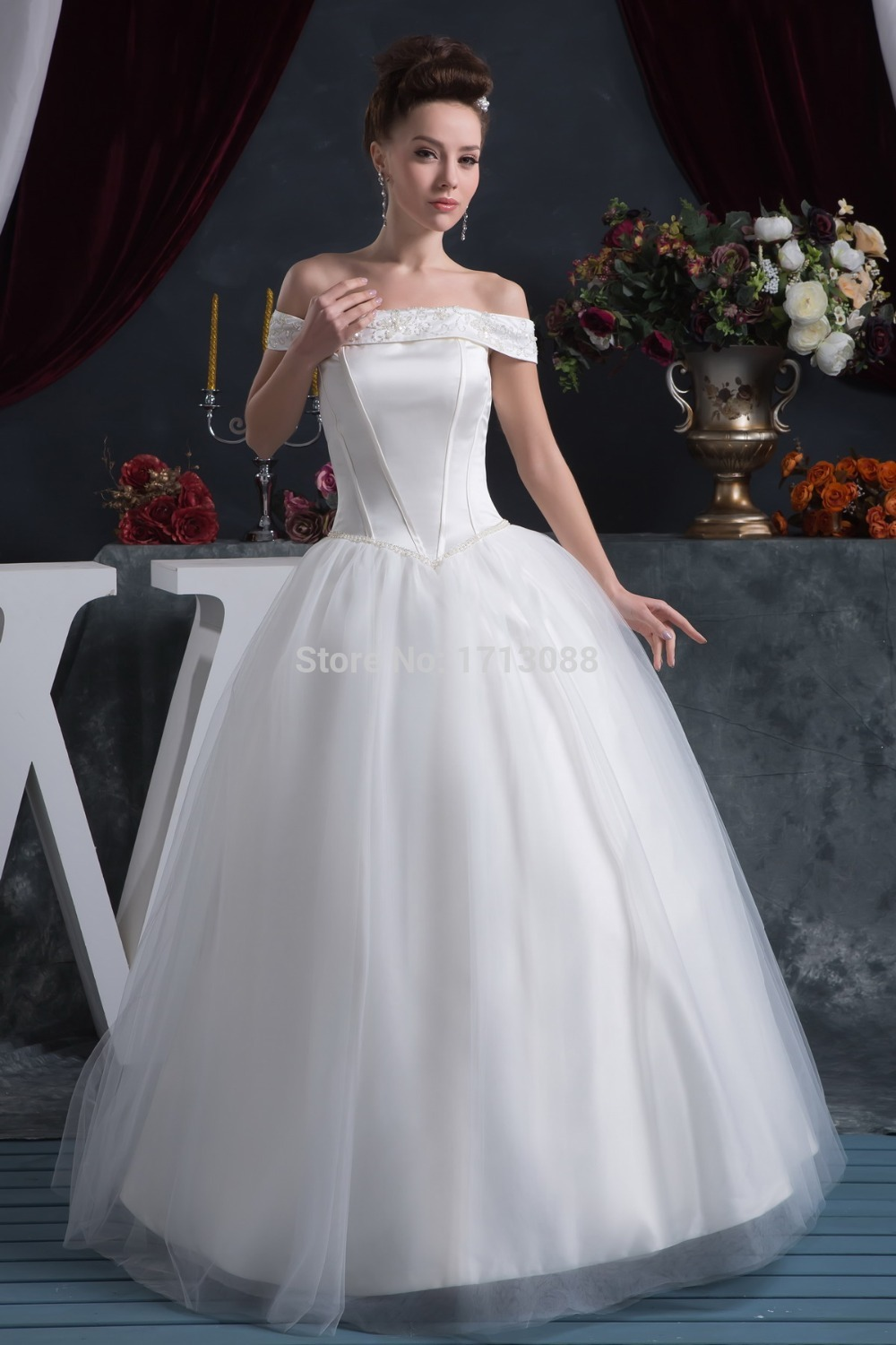 Buy Cap Sleeve Wedding Dress With No