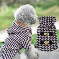 Sale Luxury Small Pet Dog Clothes Warm Clothing For Cats Puppy Yorkshire Chihuahua Jacket Coat Ski Parka With Leash Hole