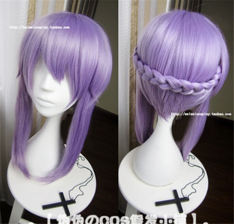 Seraph Of The End Shinoa Hiragi 40CM Purple High Quality Heat Resistance Cosplay Wig Hiragi Shinoa Synthetic Natural Hair Wigs  <br><br>Aliexpress