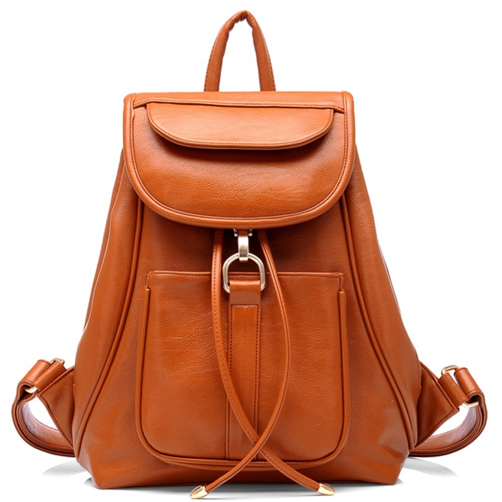 Faux Leather Backpack Purse - Crazy Backpacks