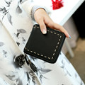 Concise Square Wallet 2016 New Fashion Small Zipper Purse Women Solid Color Designer Retro Tassel MINI