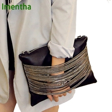 Buy High clutch bag 2017 women bag female women evening clutch bags black women leather handbags purses envelope day clutch for $13.90 in AliExpress store