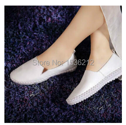 New womens flats shoes 2014 nurse comfortable round toe height increasing opera slipper black white designer brand flats hottest(China (Mainland))