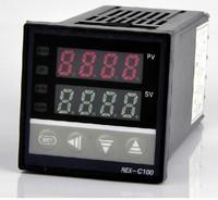 Dual Digital RKC PID Temperature Controller REX-C100, Relay Output meter