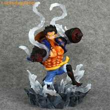Buy One Piece Gear Fourth Luffy Action Figure 1/6 scale painted figure Gear Fourth Monkey D Luffy Doll PVC ACGN figure Anime 26CM for $62.99 in AliExpress store