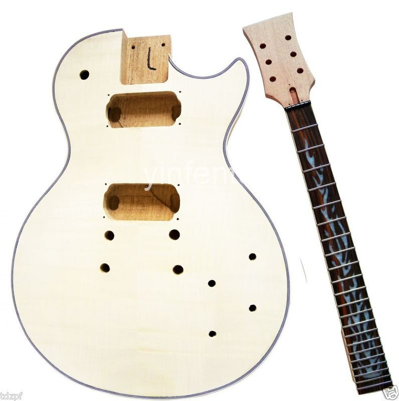 New Unfinished electric guitar neck +guitar body