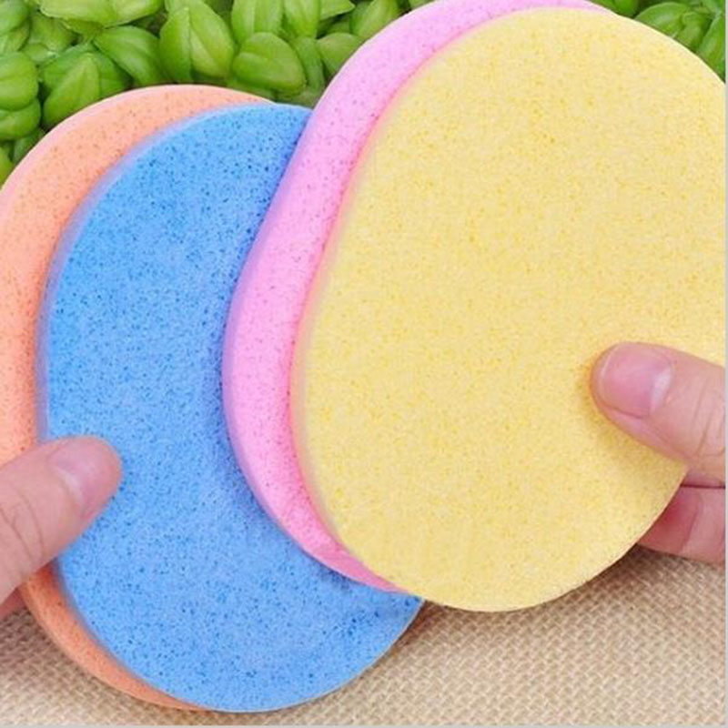 2pcs Facial Sponge Makeup Cleansing Wash Pad Natural Soft Compressed Cosmetic Puff Clean Facial Puff Sponge Cosmetics Concealer(China (Mainland))