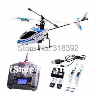 4ch 2.4Ghz mini WL Toy V911 RC Helicopter Radio Remote Control RTF single propeller LCD Display Gyro Really to fly free shipping