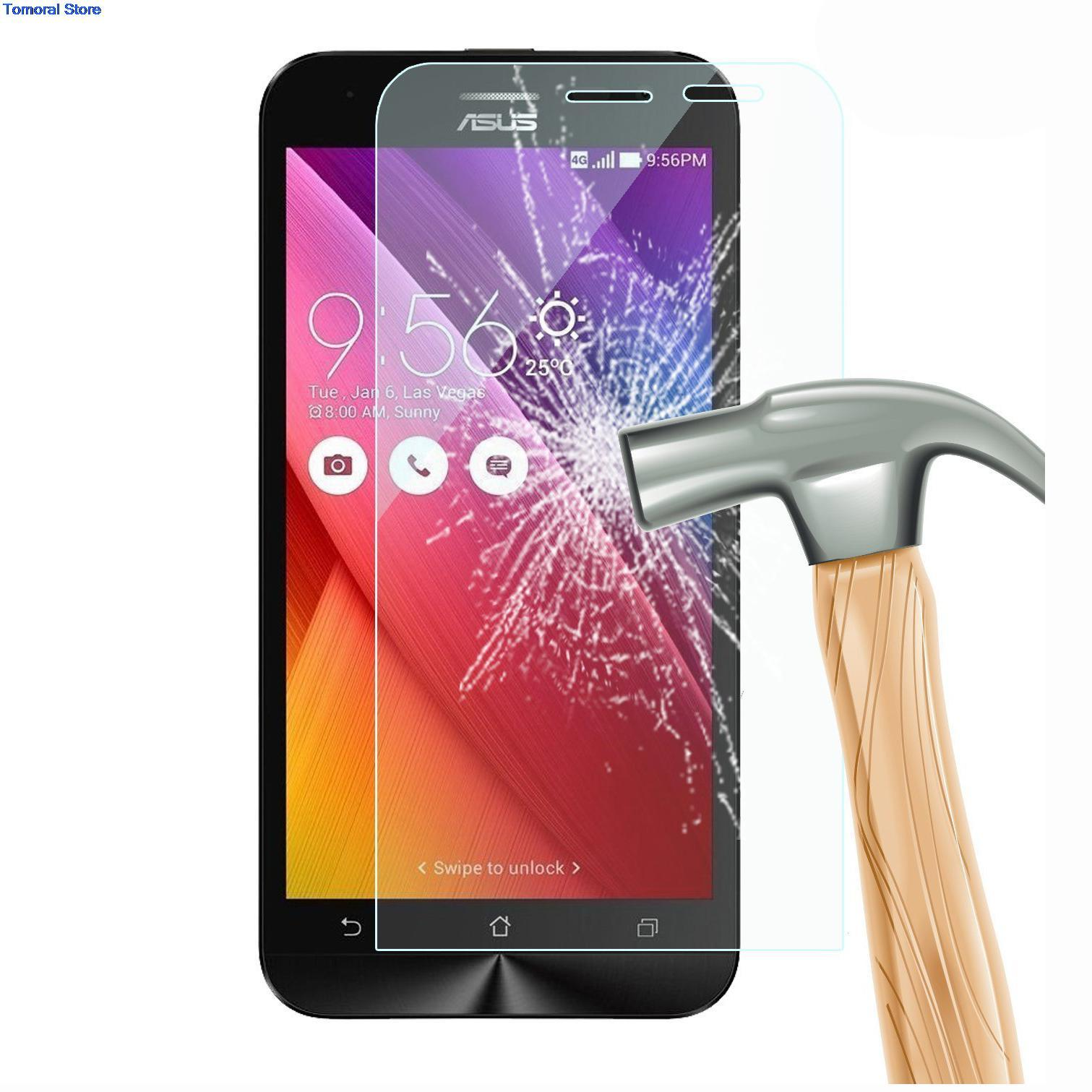 3/lot For ASUS ZenFone 2 Laser ZE500KL ZE500KG 5.0 Inch Real Ultra Thin 0.26mm Tempered Glass Screen Protector Film No Bubble